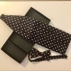 Polka Dot Silk Cummerbund Bow Tie Set
